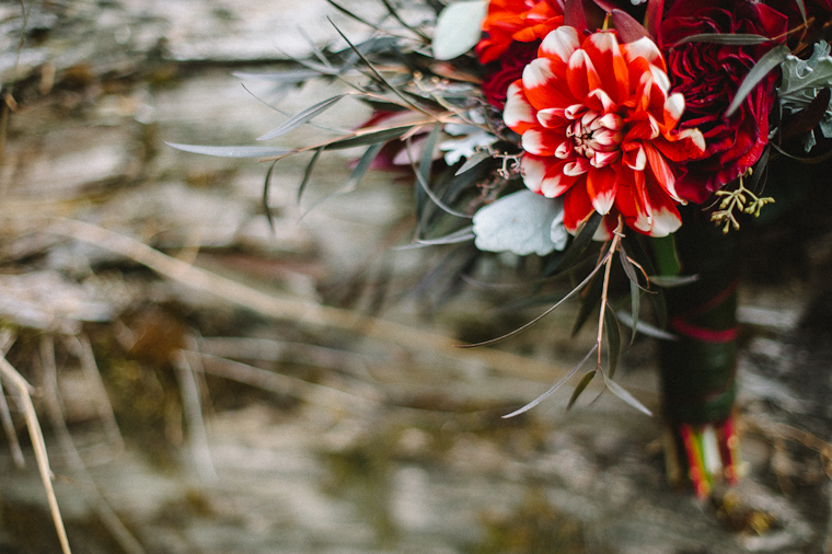 Red Rustic Wedding Bouquet