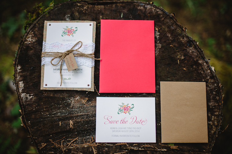 Unique Rustic Wedding Stationary
