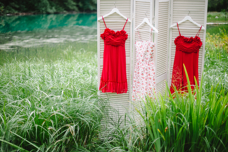 Unique Rustic Red Bridesmaid Dresses