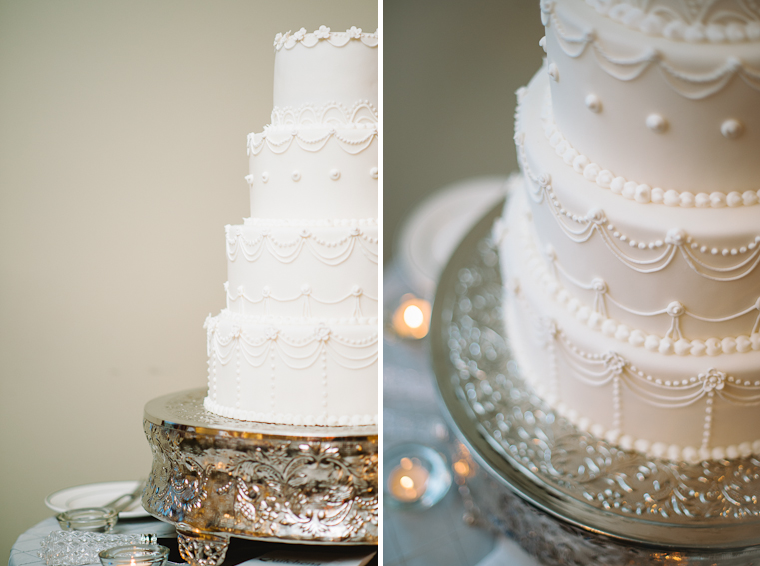 unique modern white wedding cake
