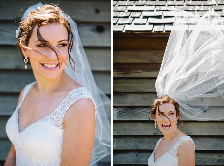 beautiful bride in lace wedding dress