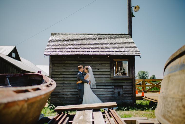 unique steveston wedding portrait