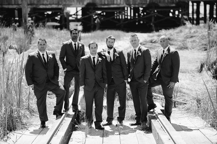 unique groomsmen pose