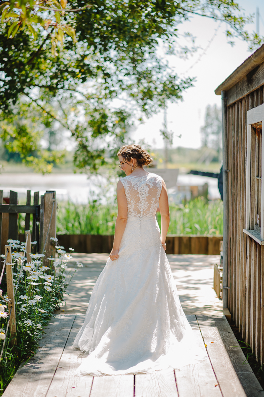steveston village bride portrait