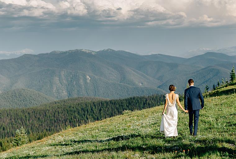 canadian mountain wedding photography
