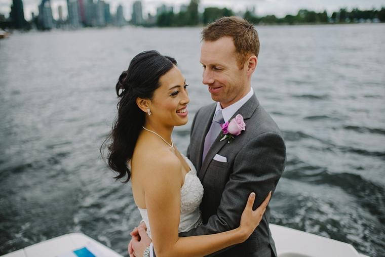 vancouver yacht wedding portrait