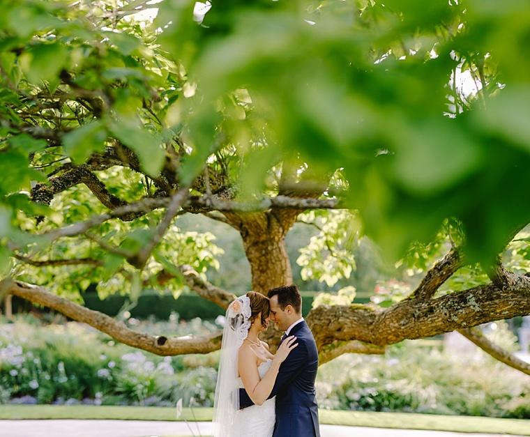 van dusen gardens wedding portrait
