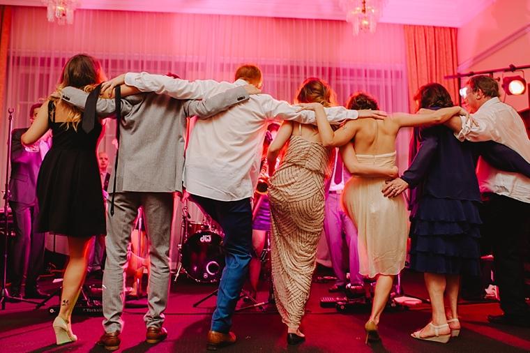big group dance at wedding
