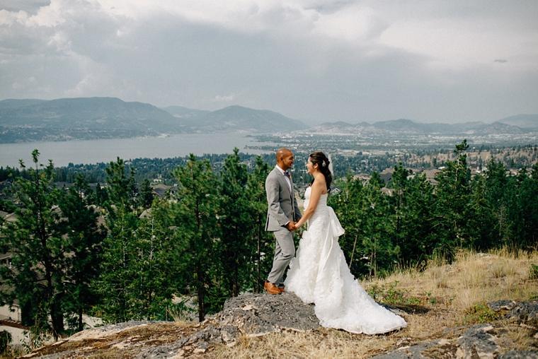 mountain wedding portrait in kelowna