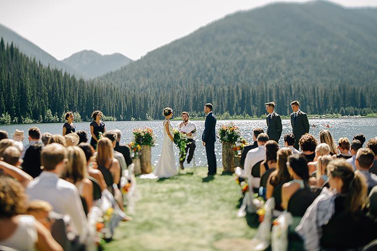 mountain lake wedding in bc