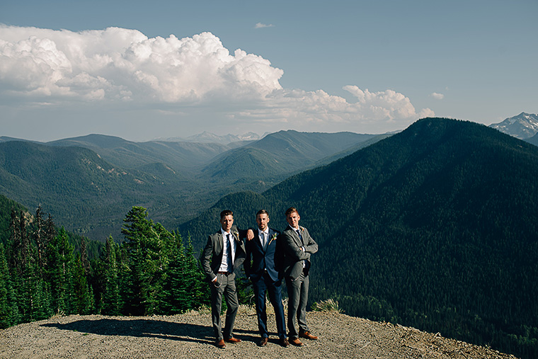 epic mountaintop wedding picture