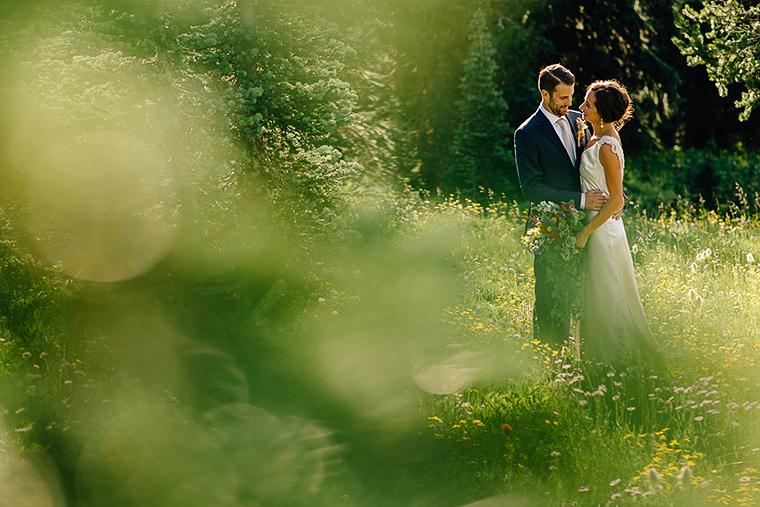 destination wedding in forest field