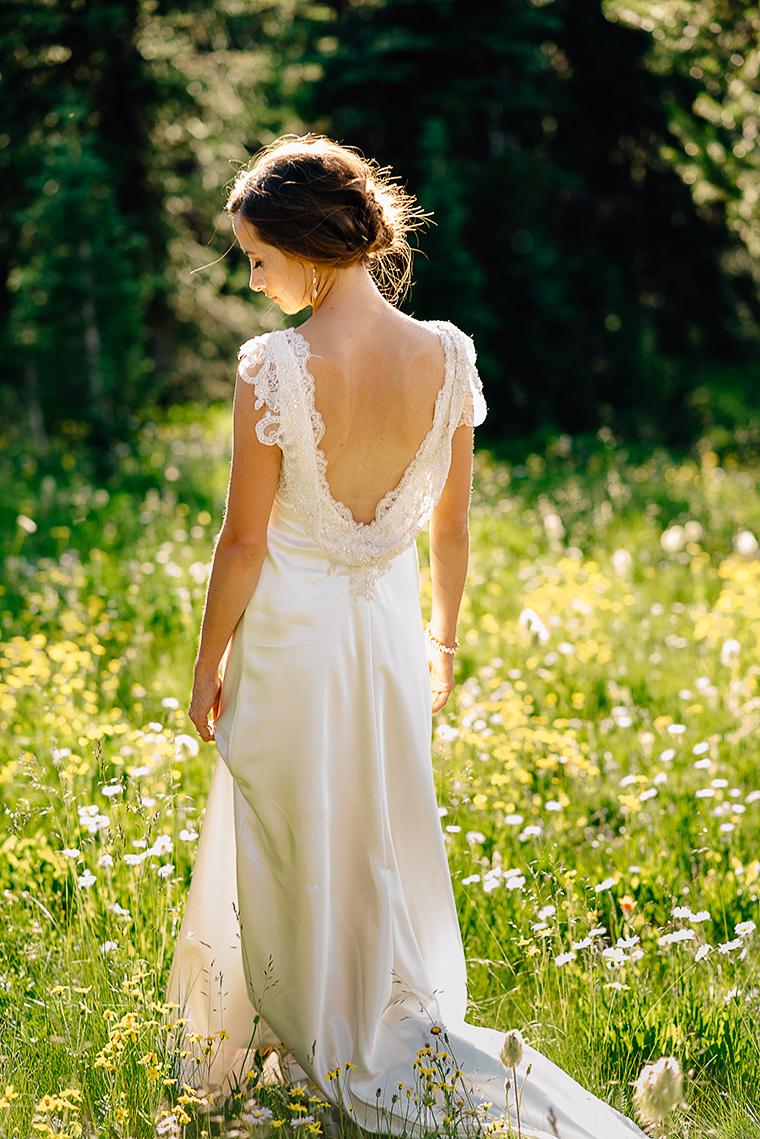 fine art bridal portrait in forest