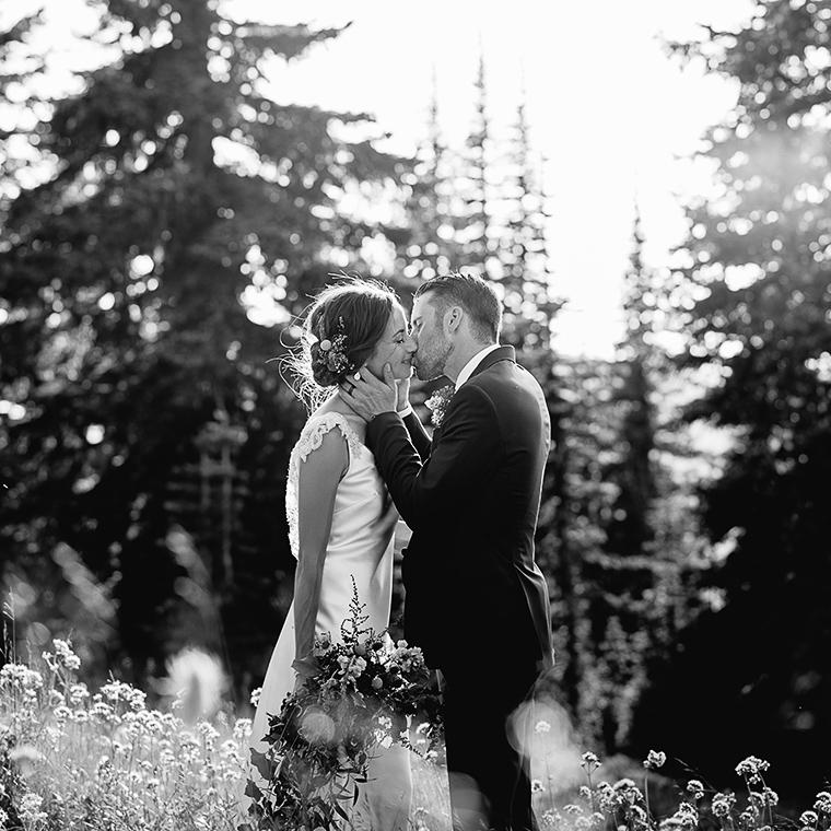 mountain forest wedding portrait