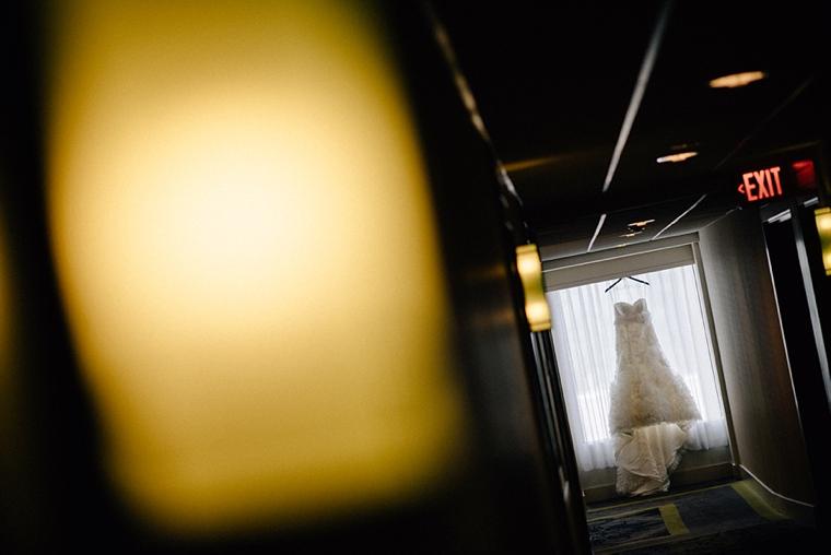 unique hotel wedding dress picture