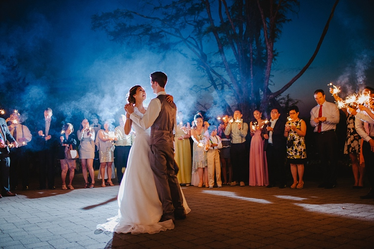first wedding dance with sparklers