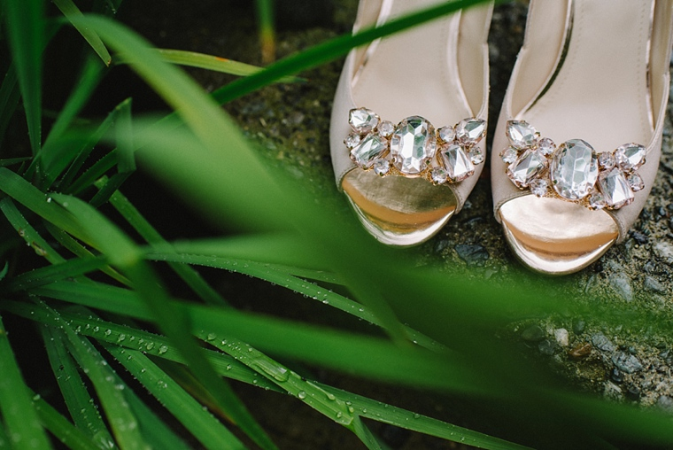unique wedding shoe with diamonds