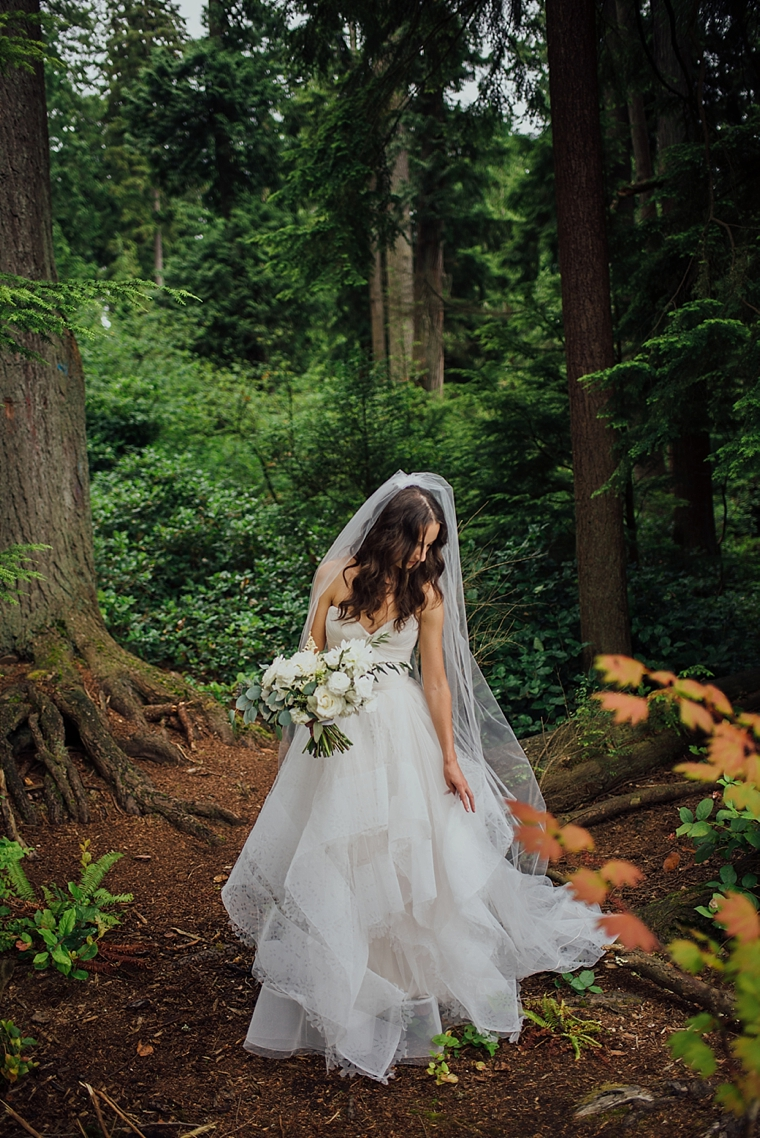 portrait of a bride in stanley park