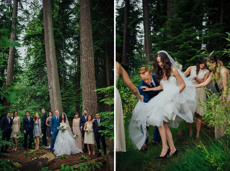 documentary wedding portraits in a forest