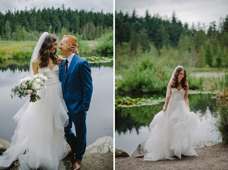 destination forest wedding by a lake