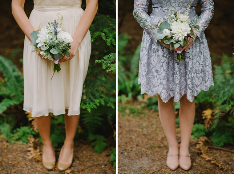 cream and silver lace bridesmaid dresses