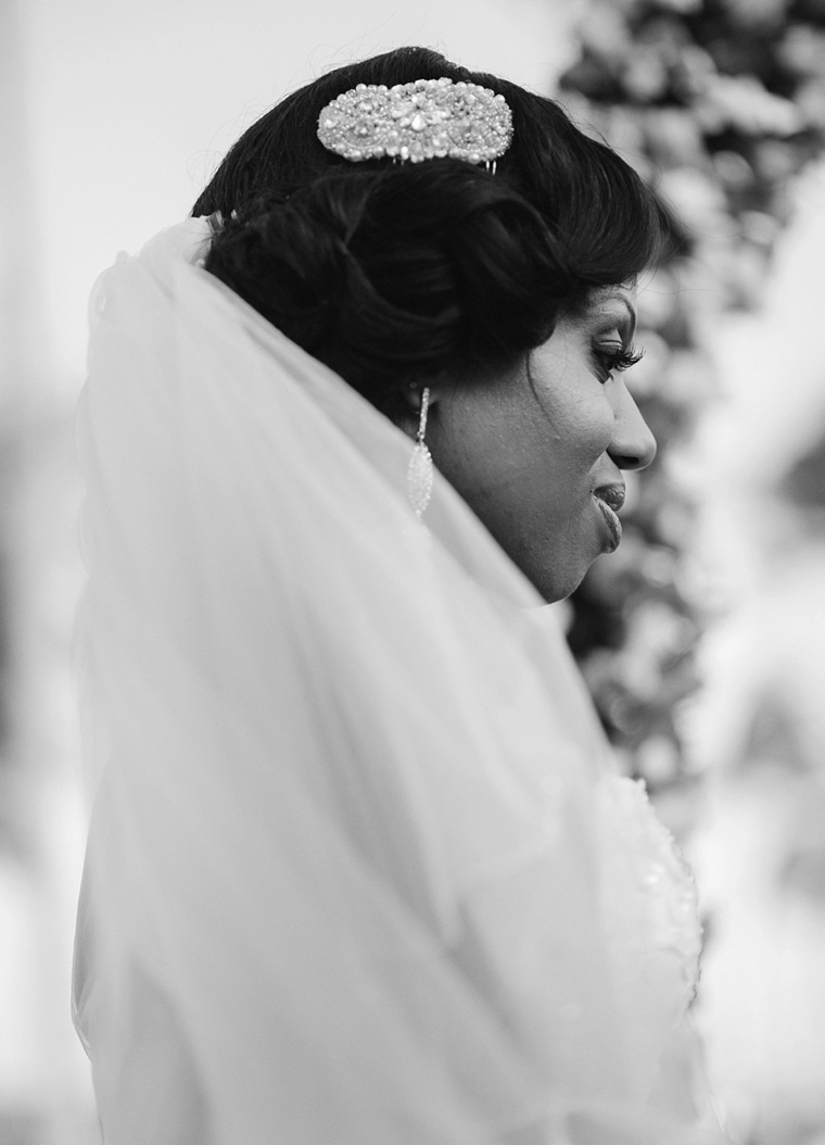african bride with veil
