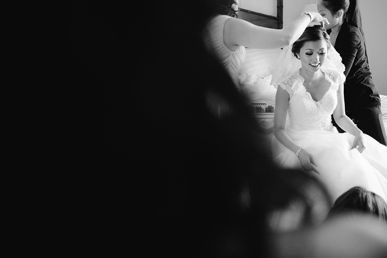 bride getting ready at poets cove resort