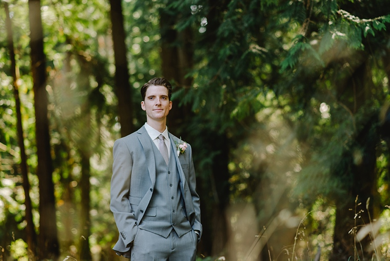 rustic groom in the forest