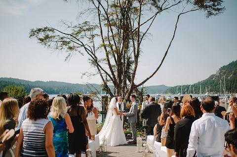 outdoor wedding on the gulf islands