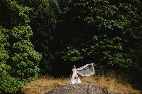 gulf island wedding portrait