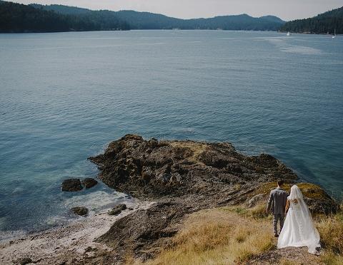 destination wedding on pender island