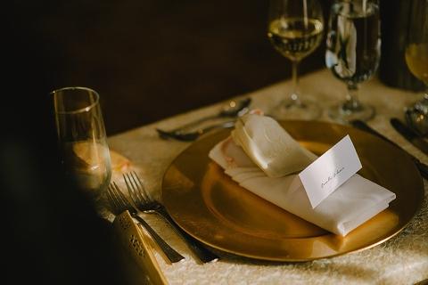 rustic golf wedding table settings