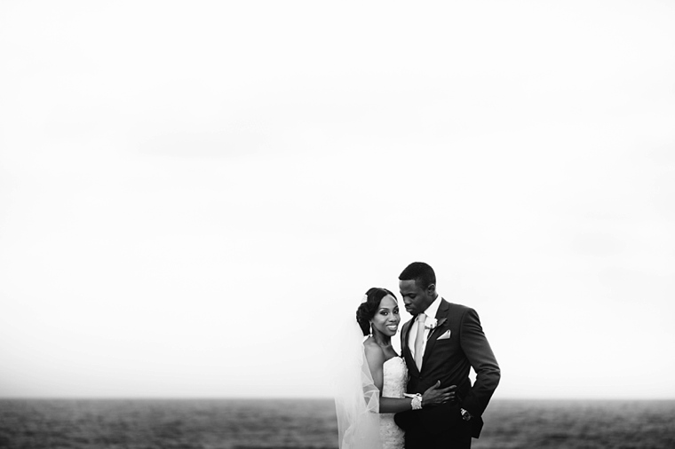 africa beach wedding portrait