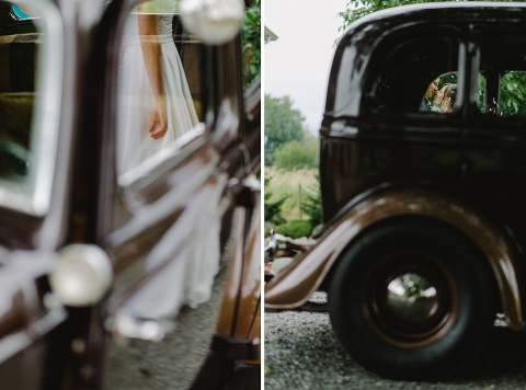 unique wedding pictures with classic car