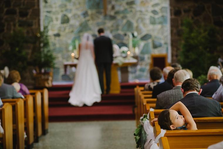 candid church wedding ceremony