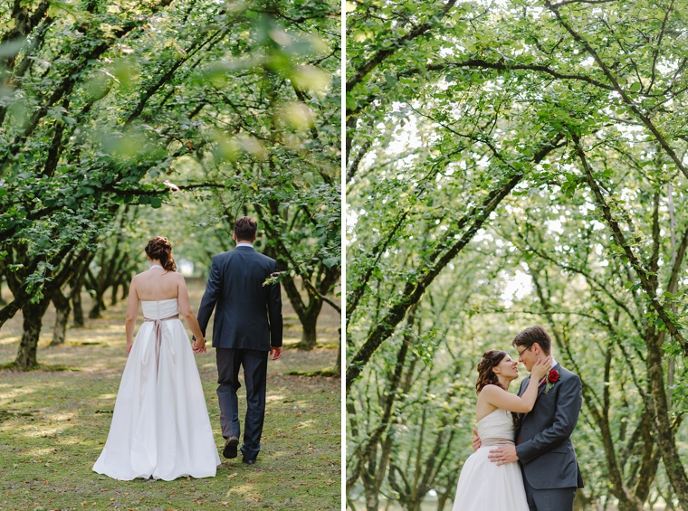 wedding portraits in an almond orchard