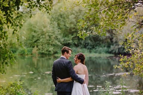 vancouver wedding portrait by forest river