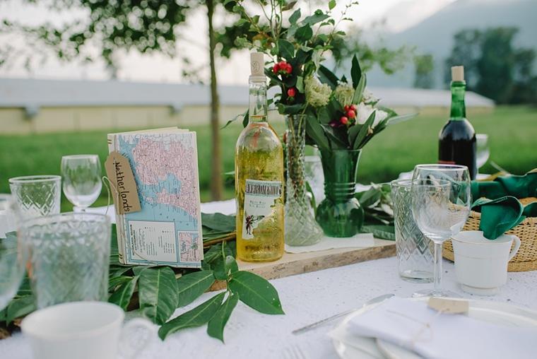 olive wedding decor