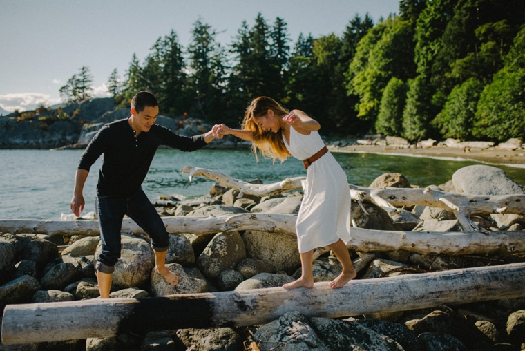 candid vancouver engagement