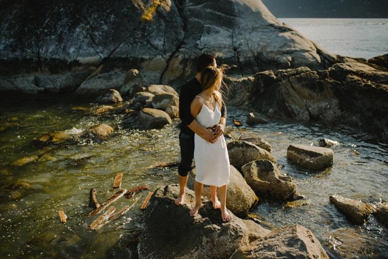 romantic vancouver engagement