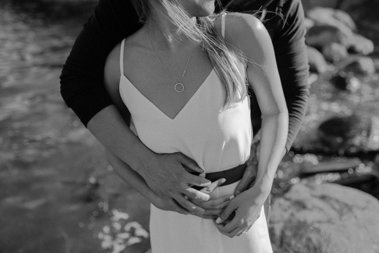 black and white vancouver engagement