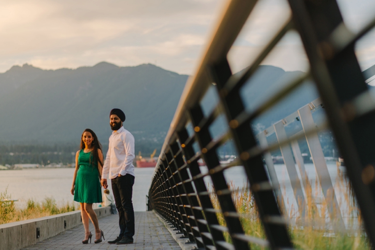 coal harbour indian engagement session