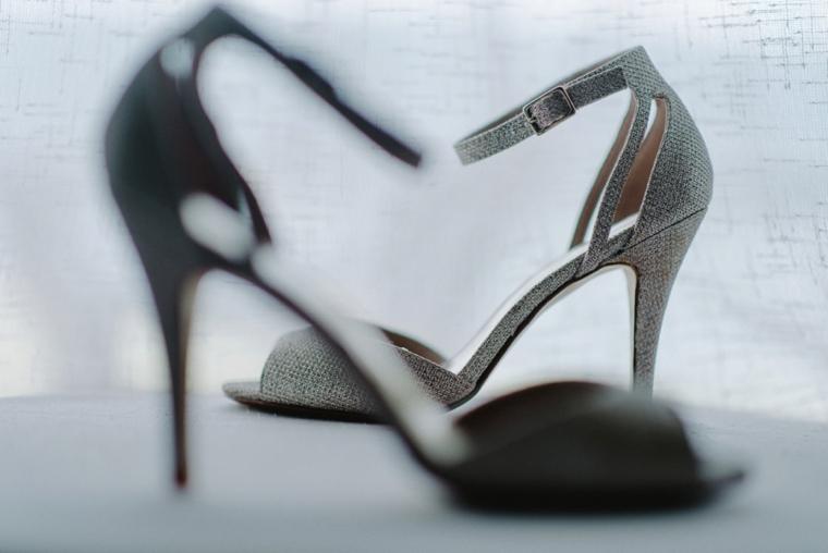 creative wedding dress shoes photo