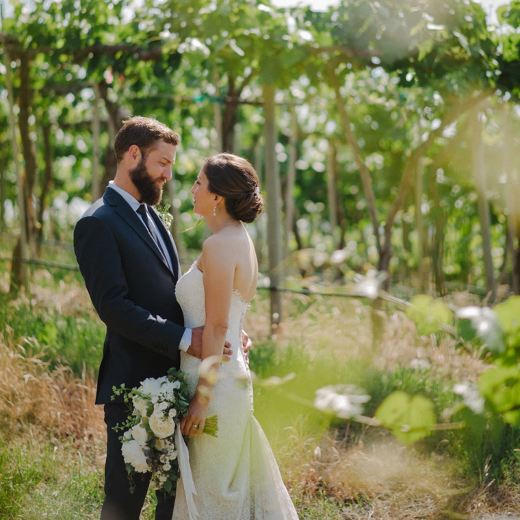 wedding portrait in penticton vineyard