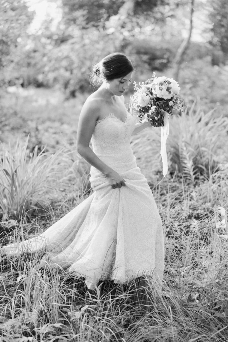 black and white destination wedding portrait