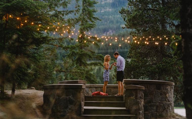 lake proposal with lights