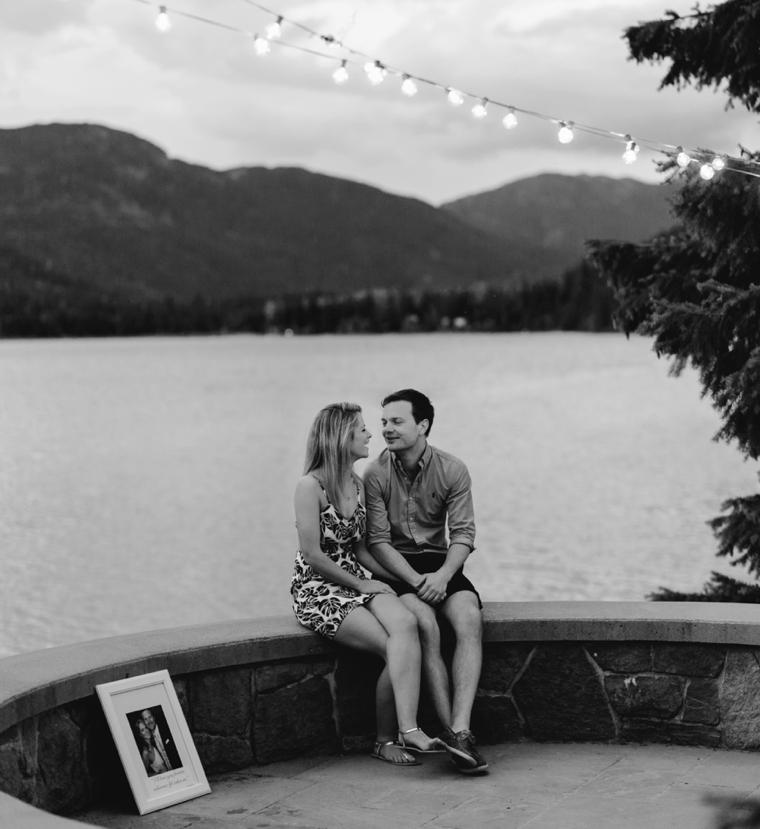 proposal at stone circle in whistler