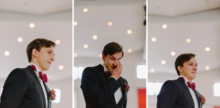 german groom getting emotional at his wedding