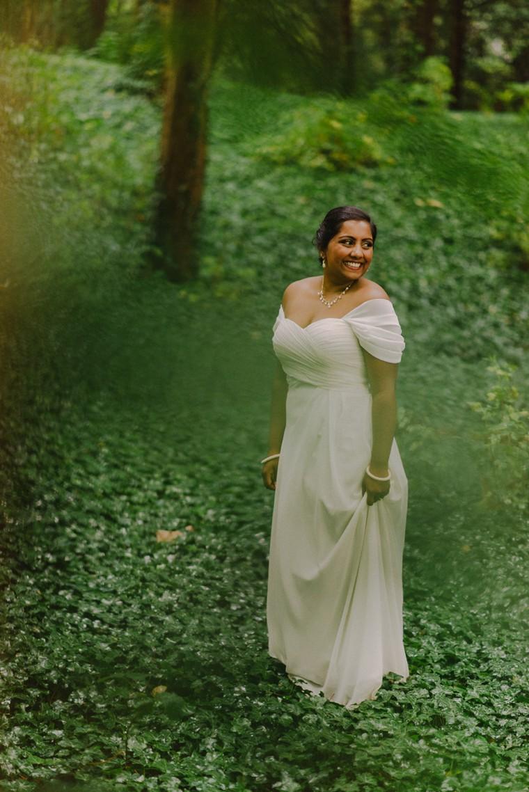 bride portrait on lousberg in aachen germany