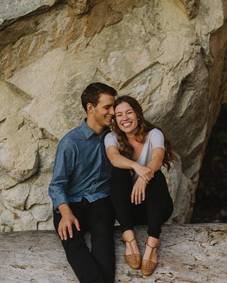 natural vancouver engagement portrait